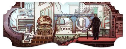 Jorge Luis Borges - Google doodle