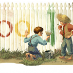 Google Doodle Mark Twain - Huckleberry Finn, Tom Sawyer