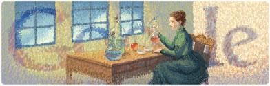 Marie Curie - Google doodle