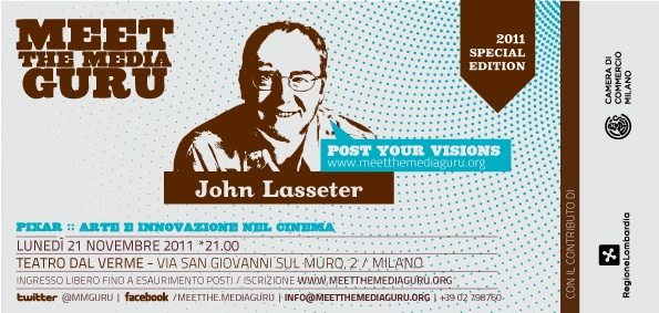 John Lasseter racconta a Meet The Media Guru la sua Pixar [live streaming]