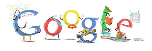 Buon Anno con il doodle che saluta il 2012
