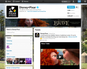 disney - twitter brand page