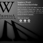 Wikipedia - SOPA protest