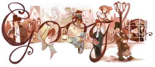 Google dodle Dickens 2012