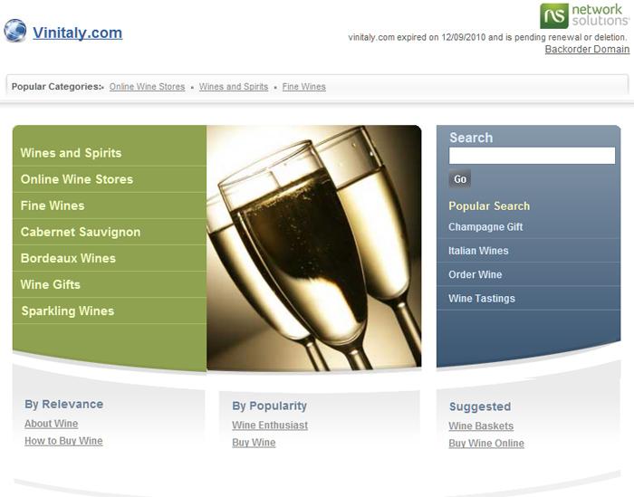 Vinitaly.com, ma dov'è il sito?