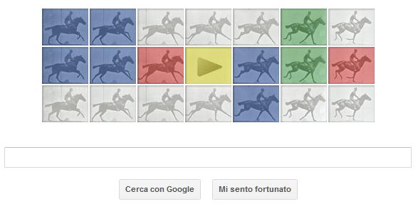 Google doodle Eadweard J. Muybridge
