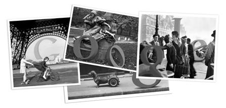 Google rende omaggio a Robert Doisneau con un doodle fotografico