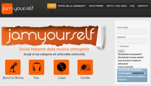Jamyourself homepage