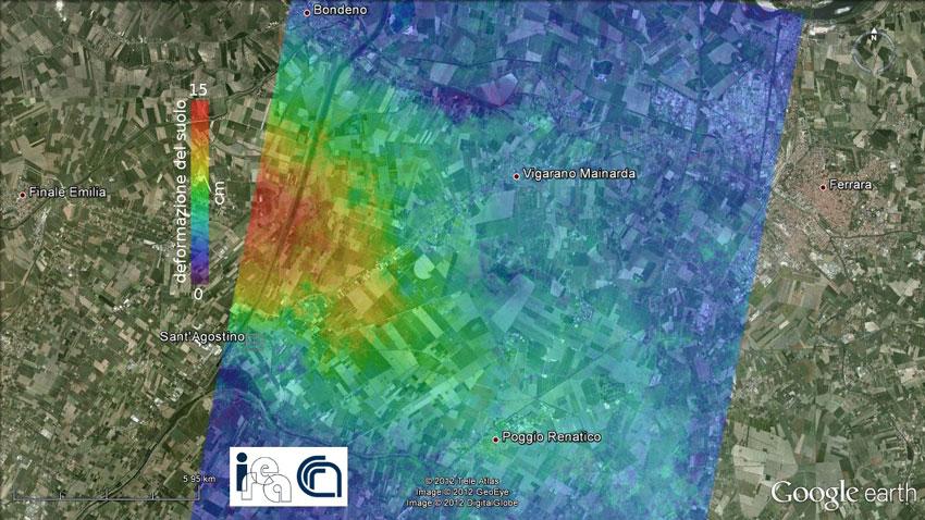 Terremoto in Emilia, l'area si è sollevata di 15 cm