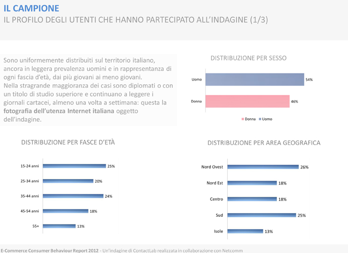 e-commerce consumer behaviour report 2012- profili utenti