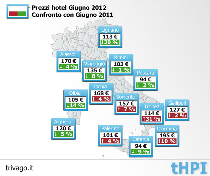 Trivago-prezzi hotel 2012