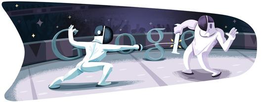 Google doodle - Londra 2012 Scherma
