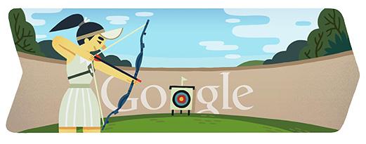 Londra 2012, il doodle di Google è per il Tiro con l'Arco