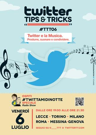 #TTT06, Twitter e la musica con #Twittamidinotte