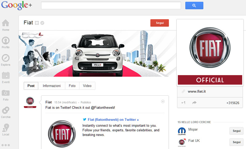 Fiat-Google+