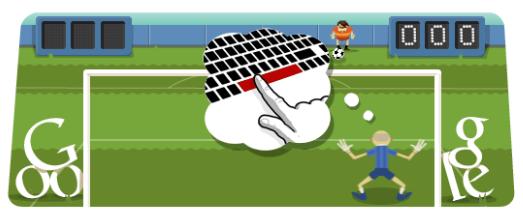 Google Londra 2012 - doodle Calcio