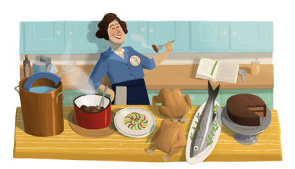 Il doodle di Google è in cucina con Julia Child