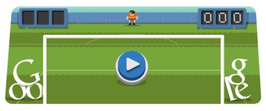 Londra 2012, giochiamo a Calcio col doodle di Google!