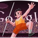 Google doodle - Londra 2012 Lancio del Giavellotto