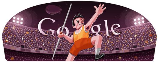 Londra 2012, il Lancio del Giavellotto nel doodle di Google