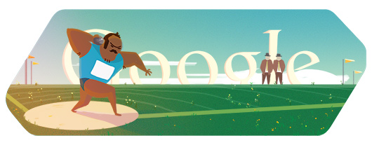 Londra 2012, il doodle di Google è per il Lancio del Peso