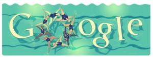 Google doodle - Londra 2012 Nuoto sincronizzato