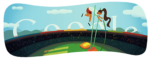 Londra 2012, il Salto con l'Asta nel doodle di Google