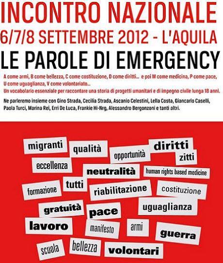 Le Parole di Emergency, stasera musica con Frankie Hi-Nrg e altri [Live Streaming]