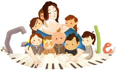 Il doodle di Google è per Clara Schumann