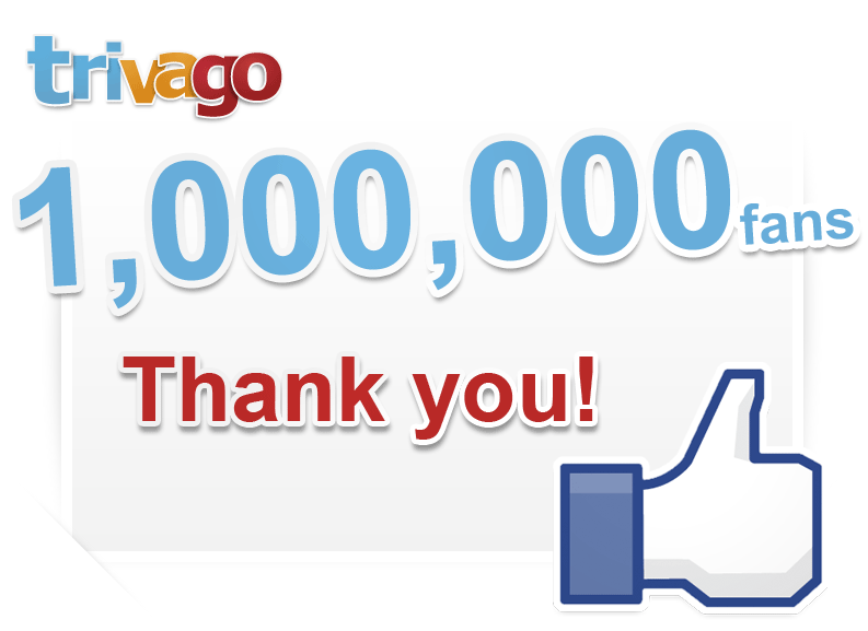 trivago 1 milione di fans su facebook