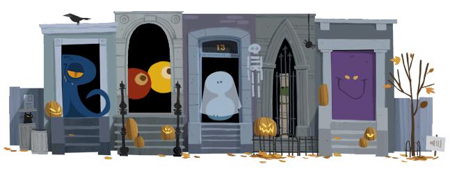 Google festeggia Halloween con un doodle interattivo