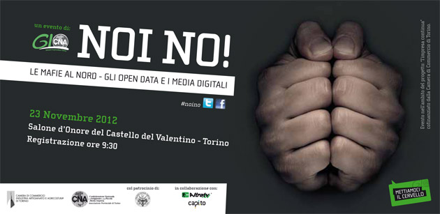 Mafie al Nord, NOI NO! Gli Open data e i media digitali [Live Streaming]