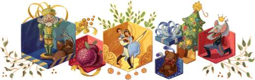 Lo Schiaccianoci omaggiato nel doodle di Google