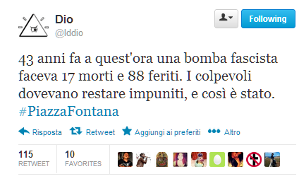 #piazzafontana @lddio