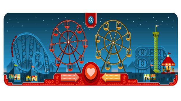 Il doodle animato di Google per San Valentino e George Ferris