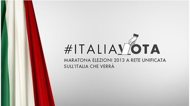 #ItaliaVota, le Elezioni Politiche 2013 A Rete Unificata