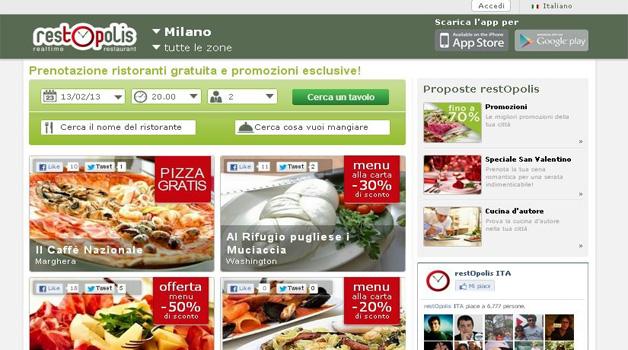 Con restOpolis debutta la ristorazione Web 2.0