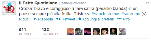 #sanctusremus_top tweet fattoquotidiano