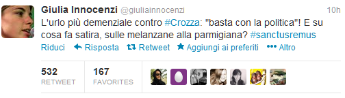 #sanctusremus_top tweet giuliainnocenzi