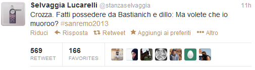 #sanctusremus_top tweet stanzaselvaggia