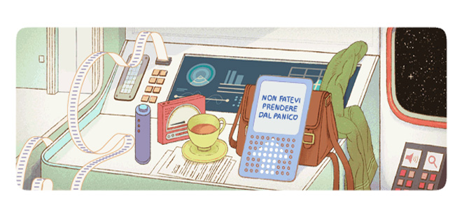 Il doodle di Google è per Douglas Adams