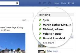 trending facebook test