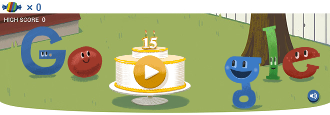 Google doodle 15 anni