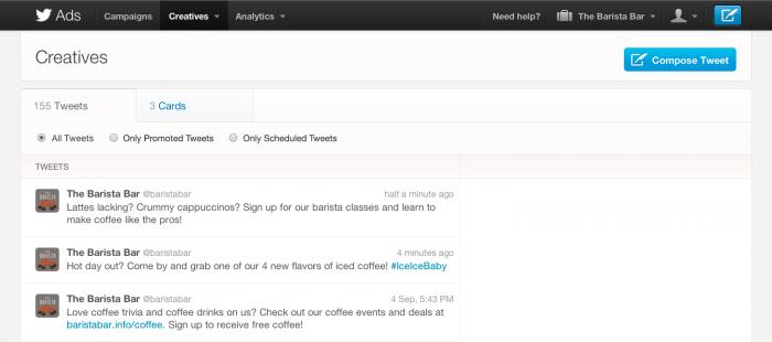 Twitter, ecco i tweets programmati ma solo per advertiser