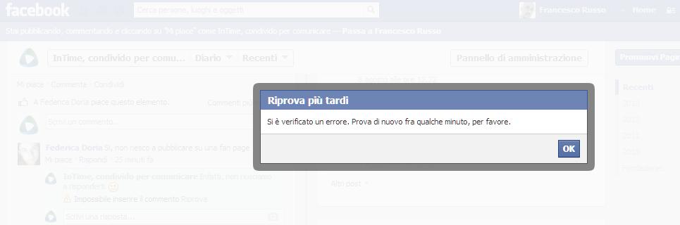 #facebookdown InTime