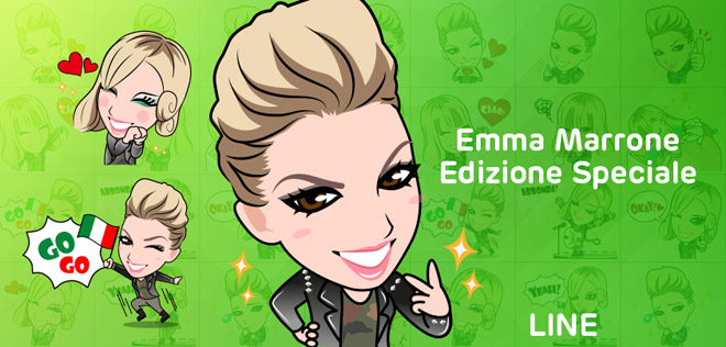 LINE-Emma-Marrone-official-stickers