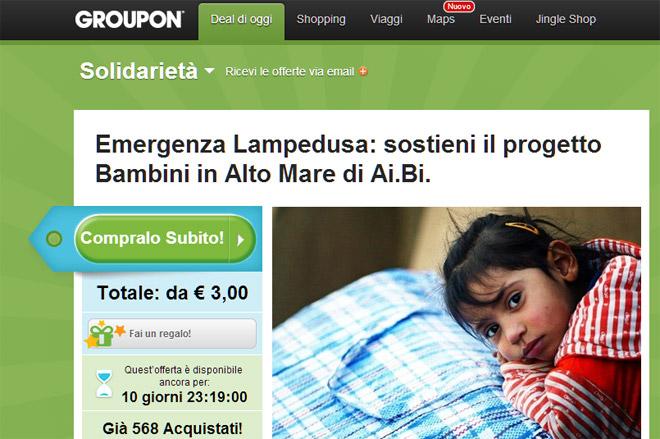 groupon-fondazione-Ai.Bi Amici dei Bambini-coupon-solidale