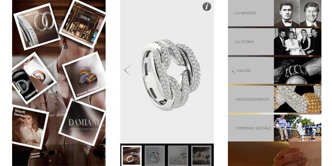 damiani-app-screenshots