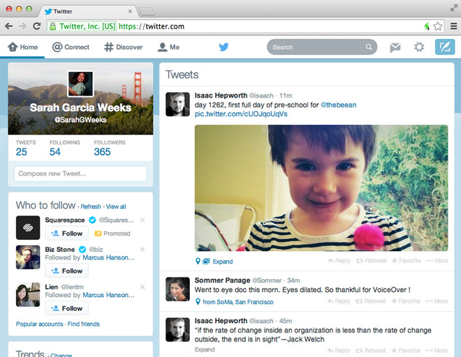 twitter-nuova interfaccia web