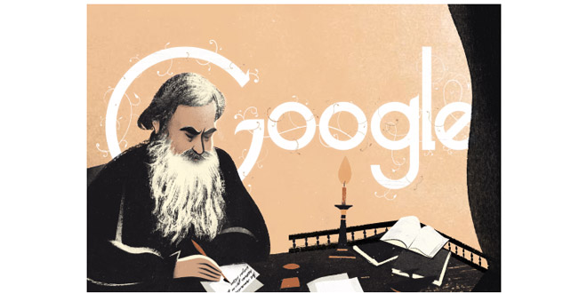 Google rende omaggio a Leo Tolstoy con un doodle